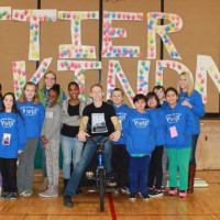 Matt Wilhelm with the kindness club at Whittier Elementary.