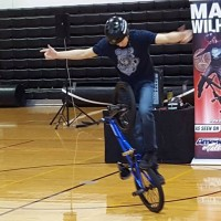 Matt Wilhelm Riding at Erie Elementary School.