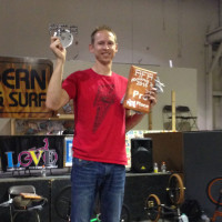 Matt Wilhelm winning best trick competition.