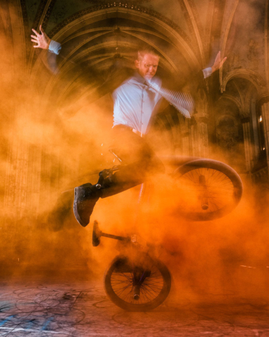 Matt Wilhelm St Boniface Church Orange Smoke