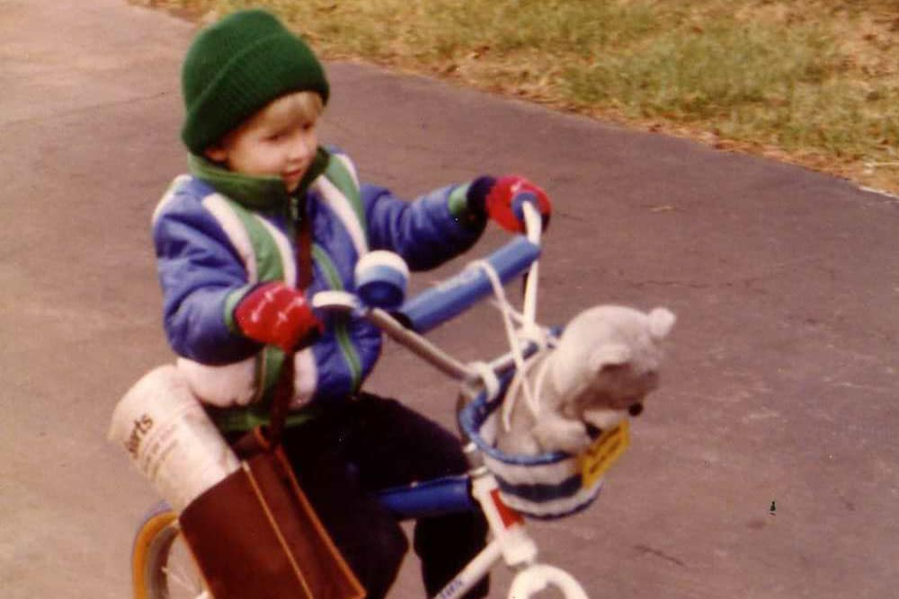 BMX rider Matt Wilhelm as a kid
